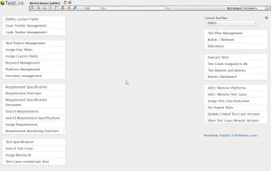 Screenshot von Testlink